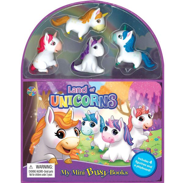 Phidal Unicorns Mini Busy Books - Multi Color