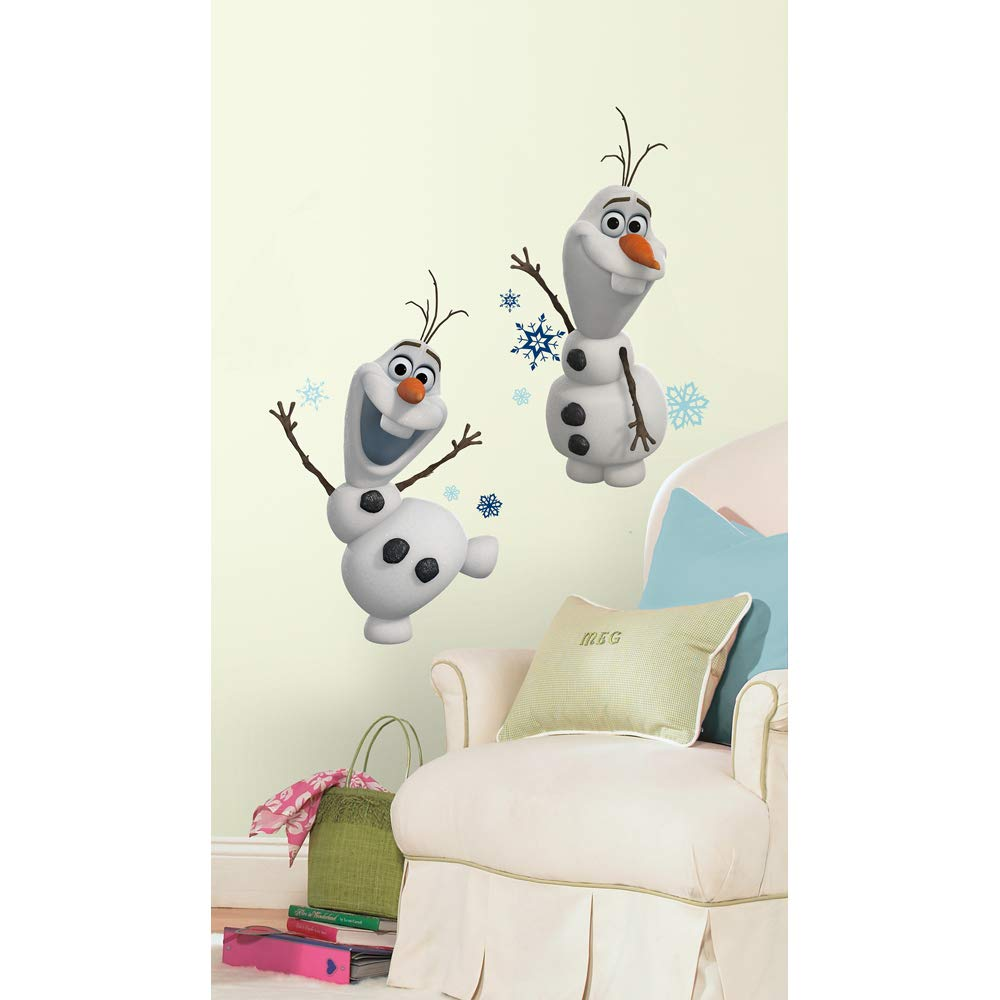 Roommates Frozen Olaf The Snow Man Peel And Stick Wall Decals