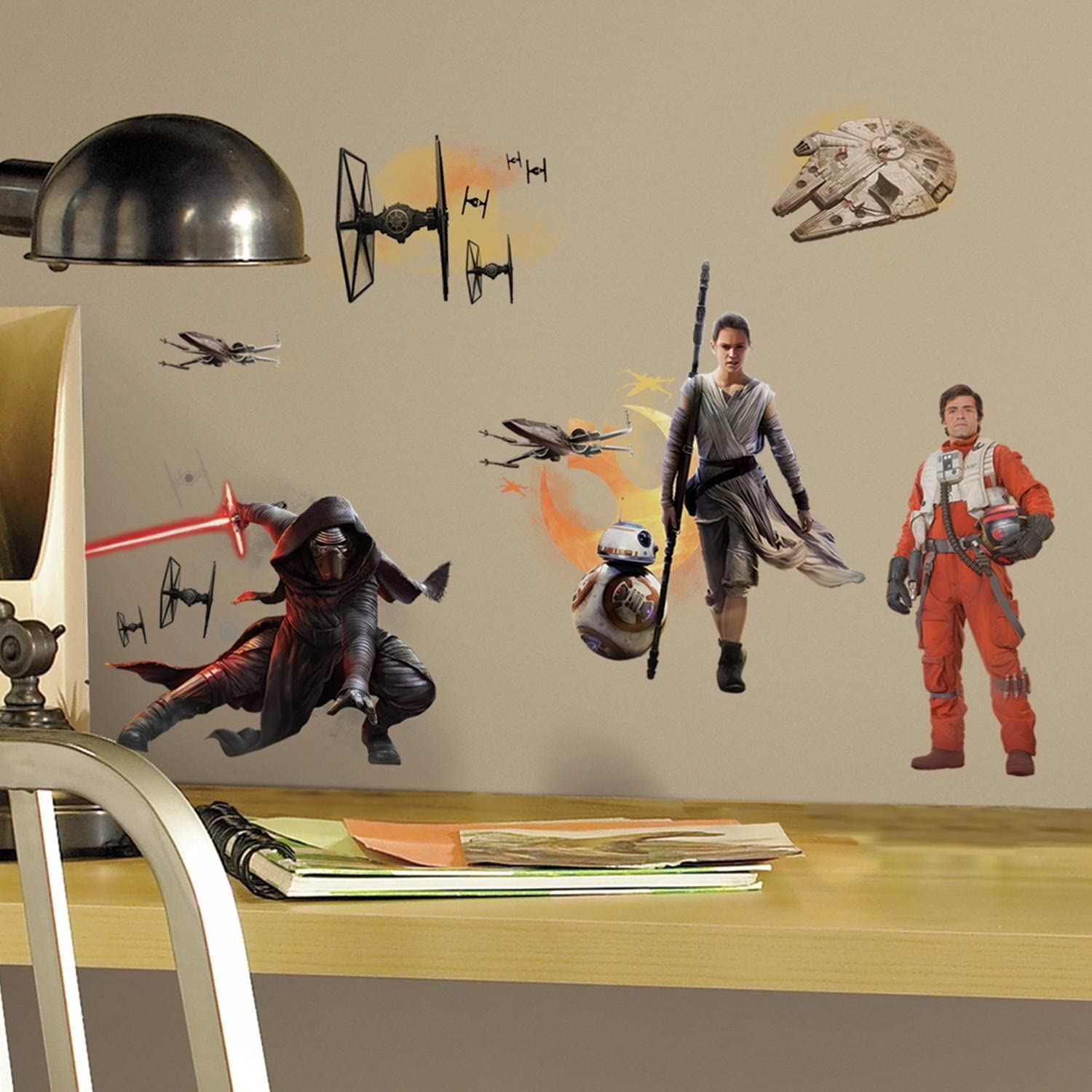 Roommates Star Wars The Force Awakens Ep Vii Ensemble Cast P&S Wall Decals