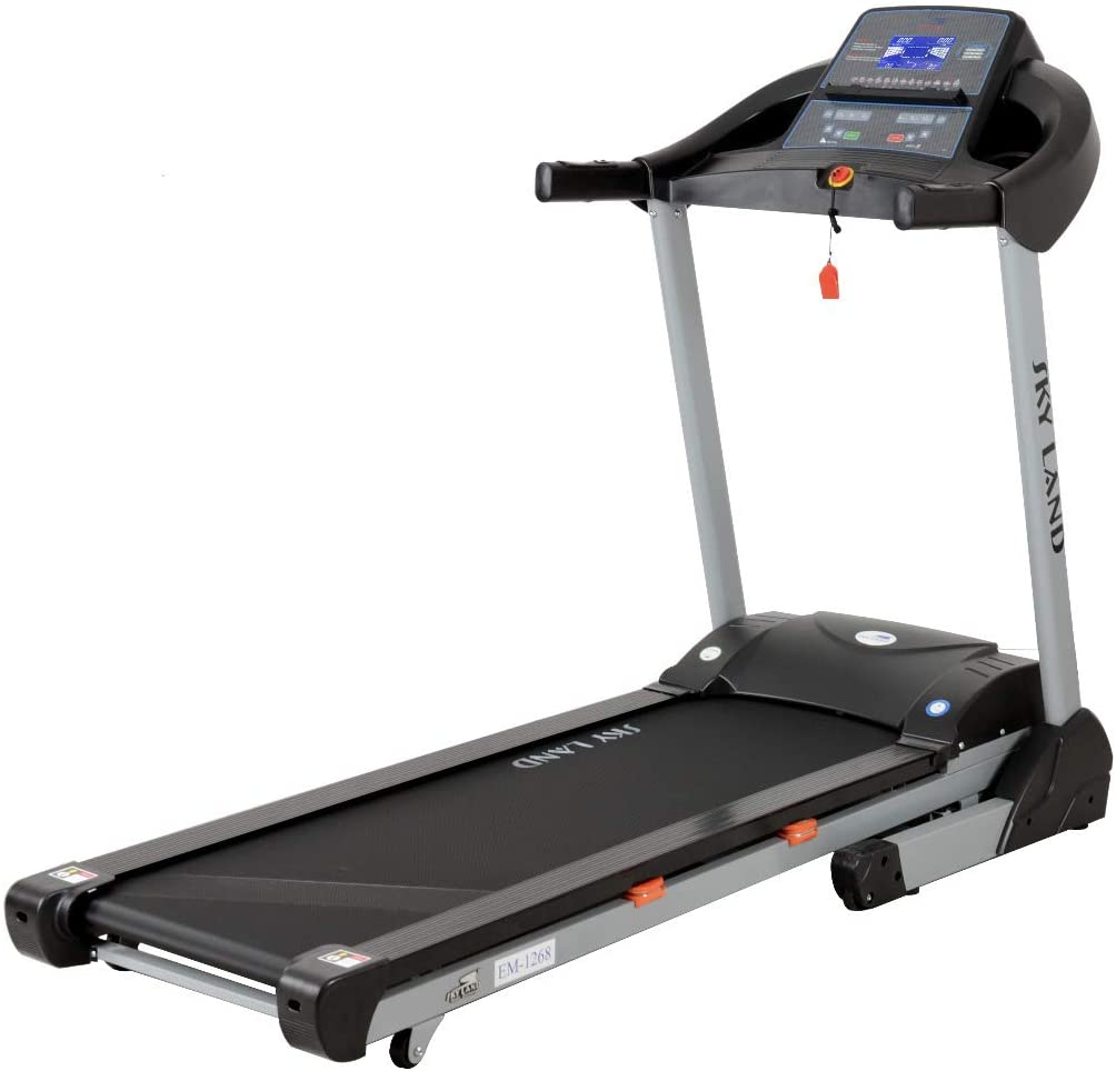 Skyland Unisex Adult Motorized Treadmill With Massager and Bluetooth Speaker