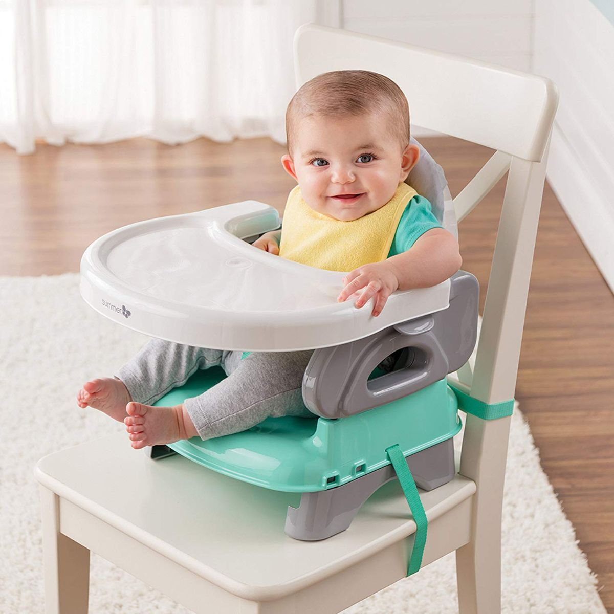 Summer Infant Deluxe Comfort Folding Booster Seat, Elephant Love