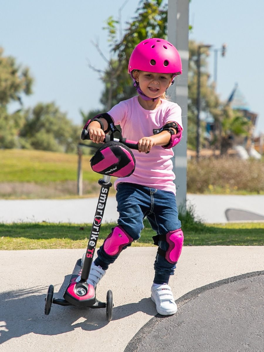 Smartrike T-Scooter T5 - Pink (W/Safety Gear)