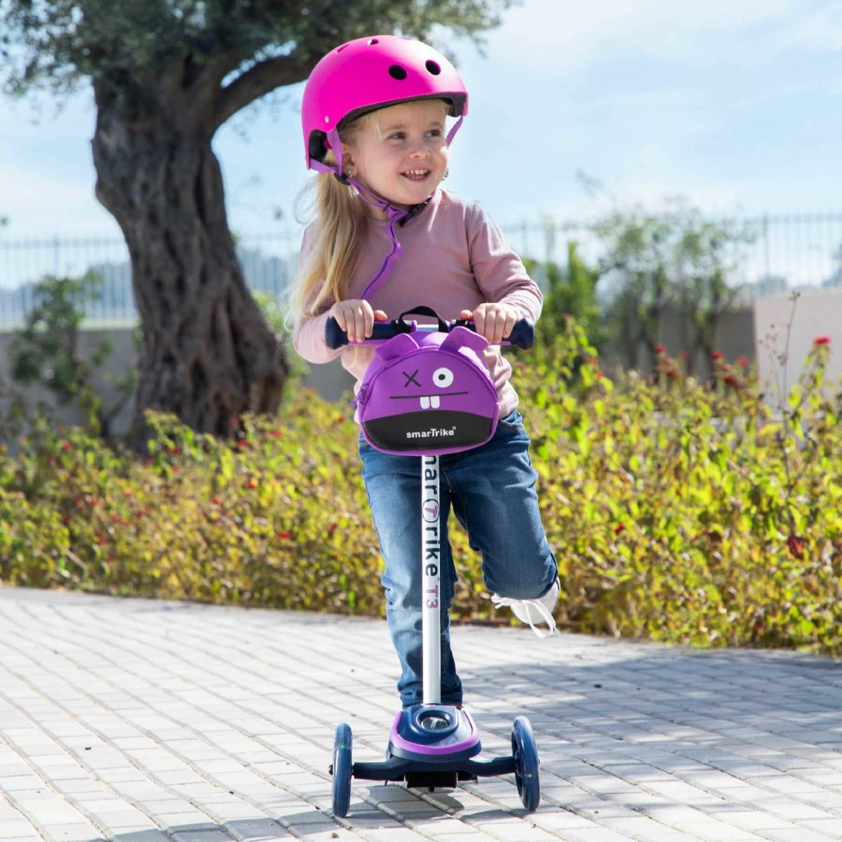 Smartrike T-Scooter T3 - Purple (W/Safety Gear)